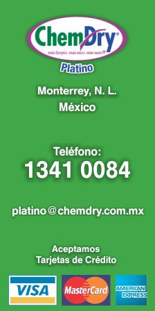 Chem Dry Platino Mty. 1341 0084